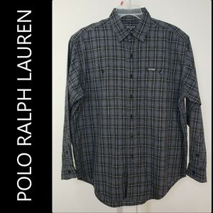 Polo Ralph Lauren Button Front Plaid & Check Shirt